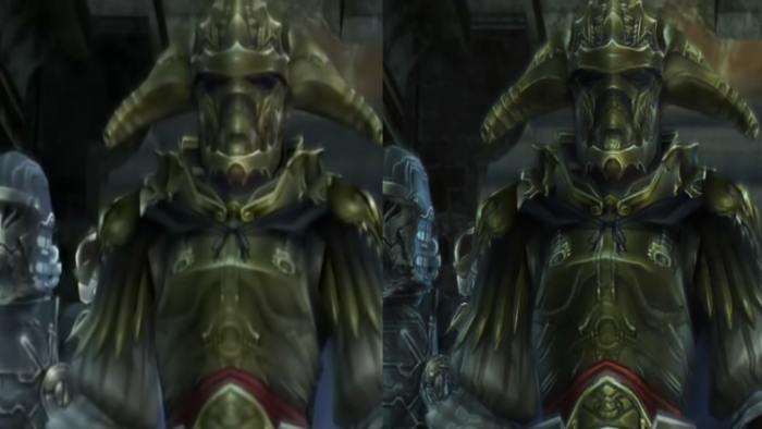 Graphics comparison for orginal SD and upscaled HD